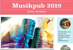 Musikpub på Bolåsa värdshus.